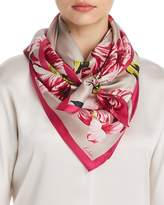 Echo Buckingham Tulip Print Silk Square Scarf