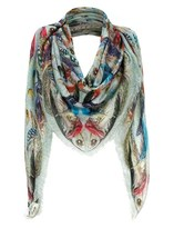 Temperley London Mint Feather Print Scarf