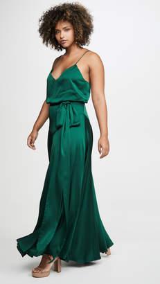 Fame & Partners Blouson Tie Waist Dress