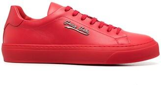Philipp Plein Signature low-top leather sneakers