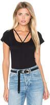 LnA Strappy Tee Bodysuit in Black. - size XS (also in )