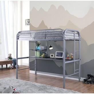 Buntin Twin Bed Zoomie Kids Bed Frame Color: Black