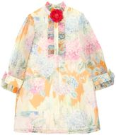 Gucci Floral Printed Silk Organza Party Dress
