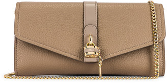 Chloé Aby Wallet on Chain Bag in Motty Grey | FWRD