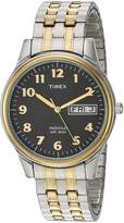 Timex Men's 'Charles Street' Quartz Brass and Stainless Steel Dress Watch, Color:Silver-Toned (Model: T2N0939J)