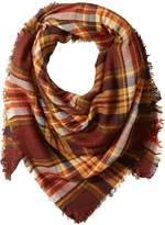 La Fiorentina Women's Oversized Square Plaid Scarf