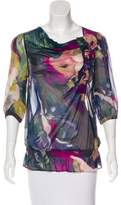 Ted Baker Silk Abstract Print Blouse