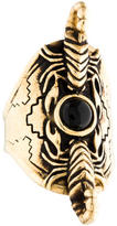 Pamela Love Onyx Scorpius Shield Cocktail Ring
