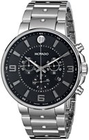 Movado Men's 0606759 SE. Pilot Stainless Steel Case and Bracelet Black Chrono Dial Watch