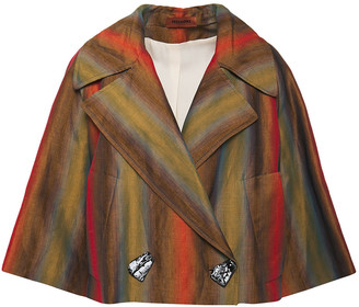 Missoni Iridescent-effect Striped Linen-blend Twill Jacket