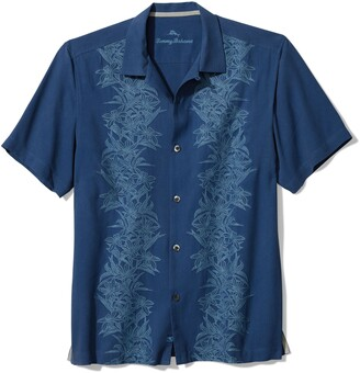 Tommy Bahama Midnight Blooms Short Sleeve Silk Button-Up Shirt