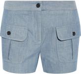 Paul & Joe Striped cotton and linen-blend shorts