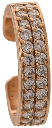 Anita Ko 18kt White Gold Double Row Diamond Ear Cuff