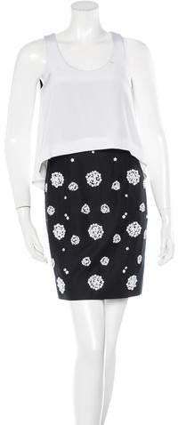 Tibi Colorblock Embellished Dress