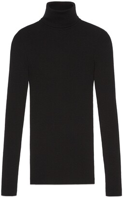 Gucci Fine rib knit wool turtleneck