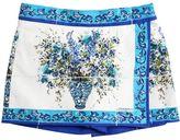 Dolce & Gabbana Maiolica Printed Cotton Poplin Shorts