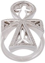 Loree Rodkin diamond maltese cross ring