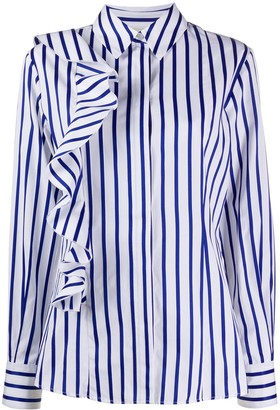MSGM Striped Ruffled Shirt