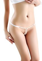 FasiCat Womens Pearls Thongs Lace G String Panties Underwear for Women