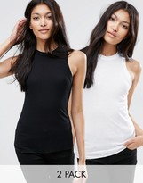 Asos The Fancy Rib Tank 2 Pack