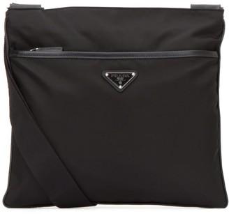 Prada Logo Plaque Messenger Bag