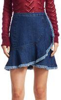Tanya Taylor Tamy Denim Mini Skirt