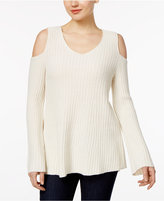 Style&Co. Style & Co Off-The-Shoulder Bell-Sleeve Sweater, Only at Macy's