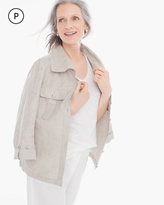 Chico's Shine Linen Utility Jacket