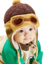 FEITONG® Cute kids Girls Boys Aviator Crochet Earflap Winter Warm Cap Hat
