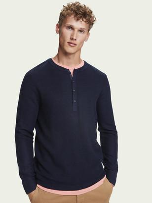 Scotch & Soda Wool-blend long sleeve waffle knit pullover | Men