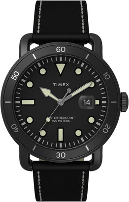 Timex Port Leather Strap Watch, 42mm