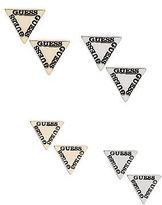 GUESS Women's Triangle Logo Earring Set
