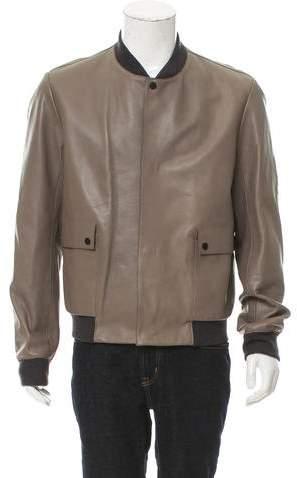 Balenciaga Leather Bomber Jacket w/ Tags