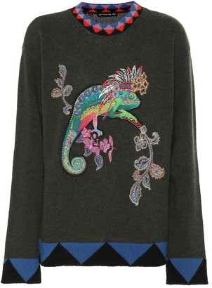 Etro Embroidered wool sweater