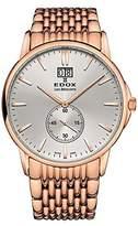 Edox Men's 64012 37RM Air Les Bemonts Analog Display Swiss Quartz Rose Gold Watch