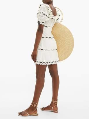 Zimmermann Honour Lace-insert Pintucked Cotton Mini Dress - Womens - White