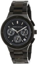 Kenneth Jay Lane Women's KJLANE-2124 Chronograph Black Dial Black Ion-Plated Stainless Steel Watch