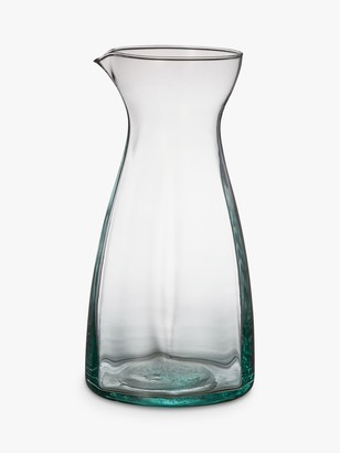 Leon Recycled Glass Jug, Clear, 1.3L