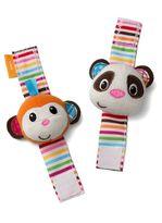 Infantino Monkey & Panda Wrist Rattles