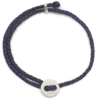 Scosha Signature 4MM Bracelet in Silver and Indigo
