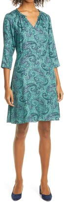 Rebecca Taylor Margaux Paisley Silk Blend Shift Dress