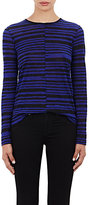 Proenza Schouler Women's Tissue-Weight Long-Sleeve T-Shirt-BLUE, BLACK