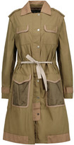 Belstaff Convertible leather-trimmed cotton trench coat