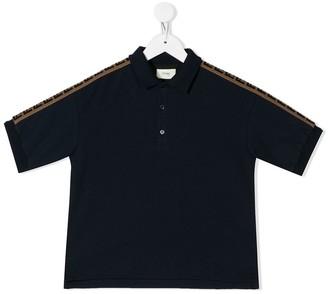 Fendi Kids FF stripe polo shirt