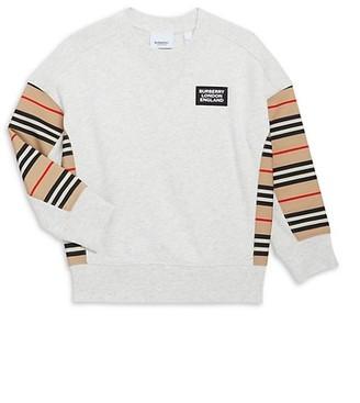 Burberry Little Girl's & Girl's Icon Stripe Sweatshirt
