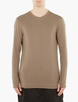 Helmut Lang Sage Ribbed Long-sleeved T-shirt