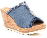 Minnetonka York Denim Wedge Sandals