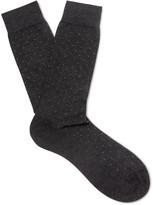 Pantherella - Regent Pin-dot Cotton-blend Socks