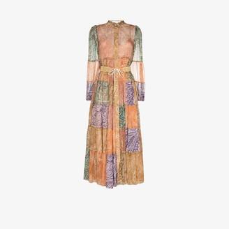 Zimmermann Brighton patchwork paisley midi dress