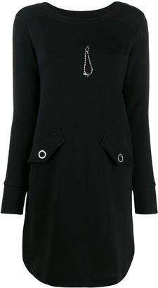 Love Moschino long-sleeve shift dress